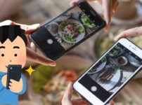 ご飯の写真を撮影
