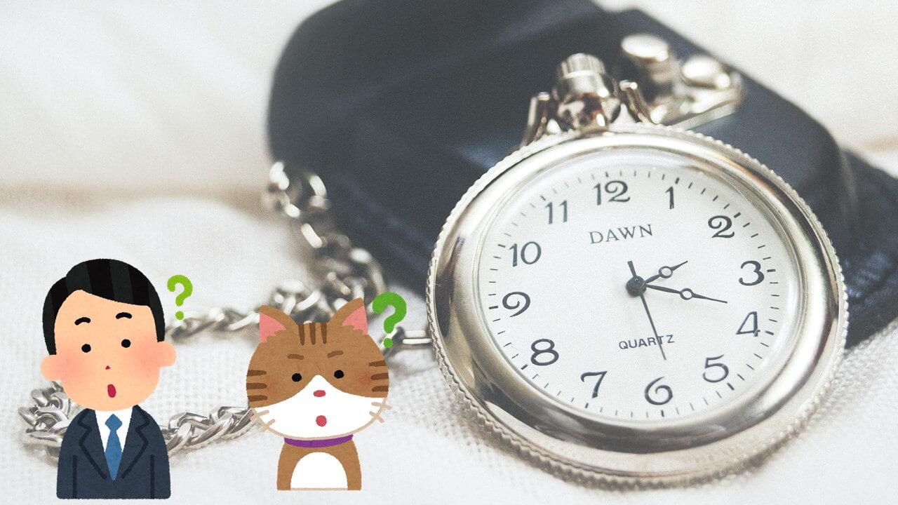 男性と猫と時計